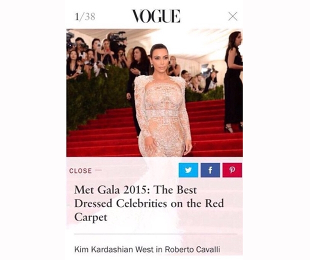 kim kardashian wins vogue best dressed at the met gala 2015