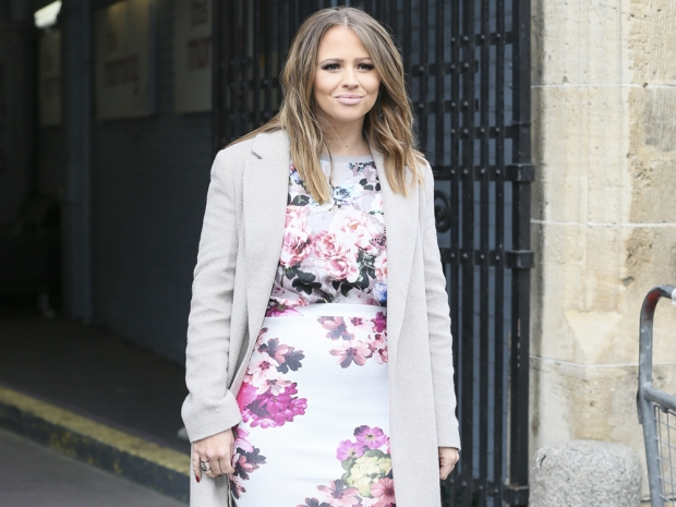 Kimberley Walsh shows off her post-baby figure in London