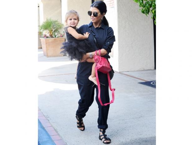Kourtney Kardashian takes her daughter Penelope Disick to her ballet class