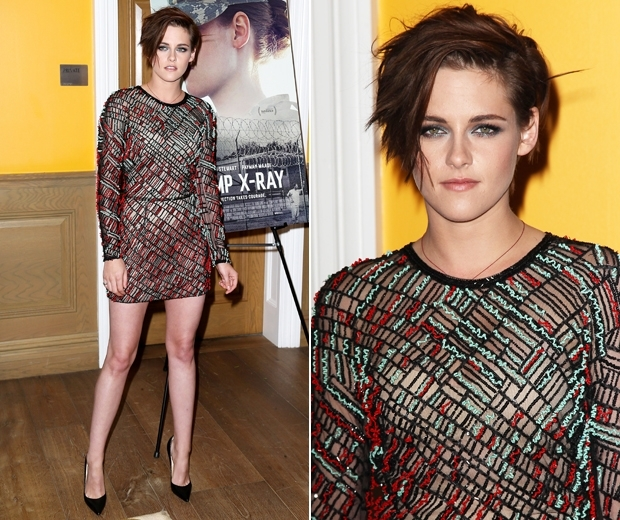 kristen stewart dress at camp x ray premiere