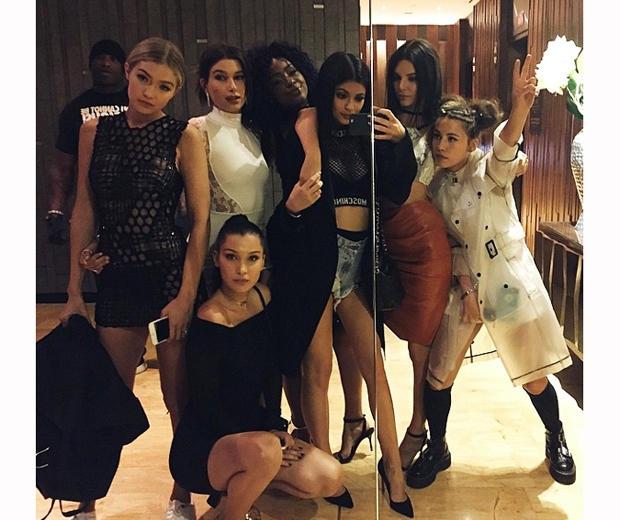 Kylie Jenner shares a selfie of her and Kendall at the Met Gala 2015 after-party
