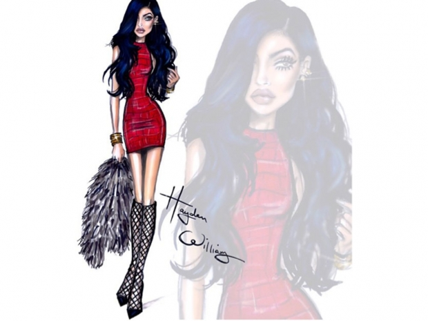 Instagram hayden williams kylie jenner sketch