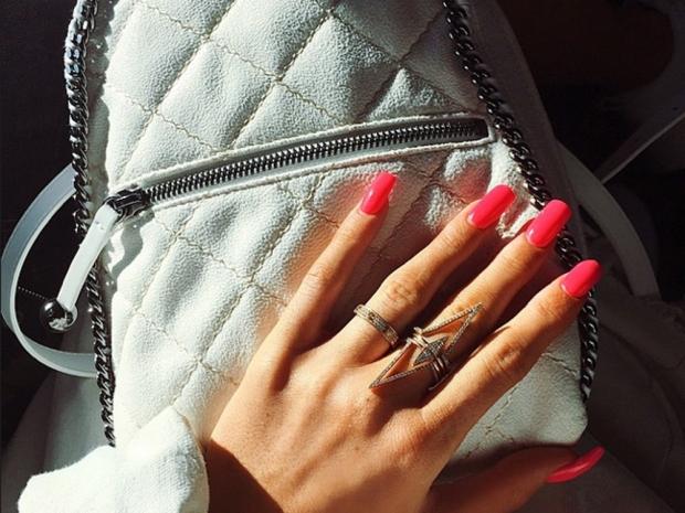 Kylie Jenner showcases the ring on her left hand on Instagram