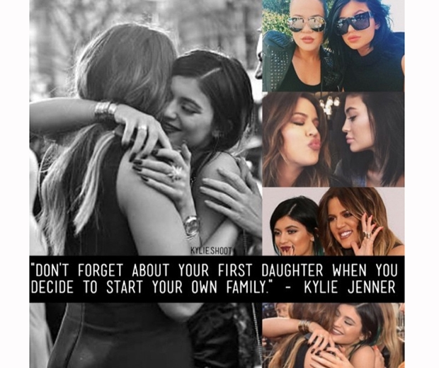 kylie jenner khloe kardashian love mother collage