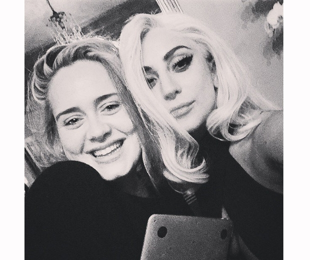 Adele spending a night with Lady Gaga back in January this year