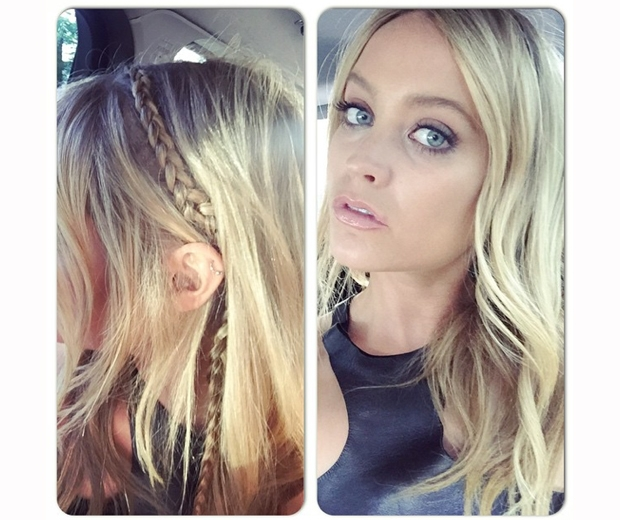Laura Whitmore shows off her dainty boho braids on Instagram