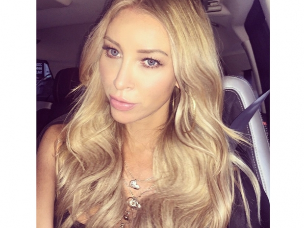 Lauren Pope with new blonde hair in Instagram photo