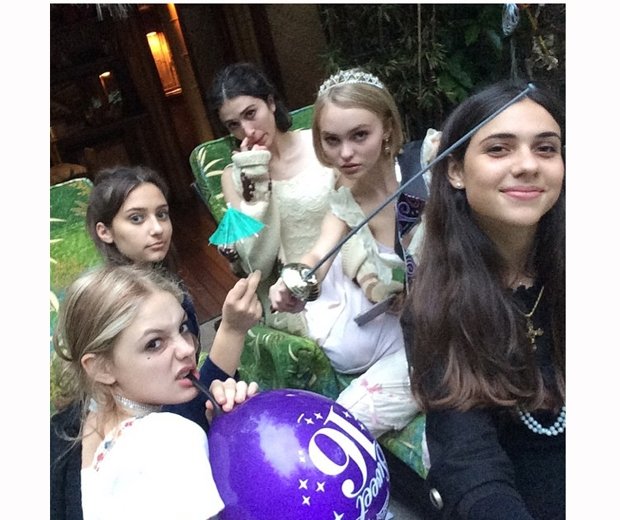 lily rose depp friends at 16th birthday party
