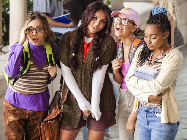 The Little Mix girls in the video for Black Magic