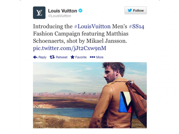 In the Louis Vuitton campaign