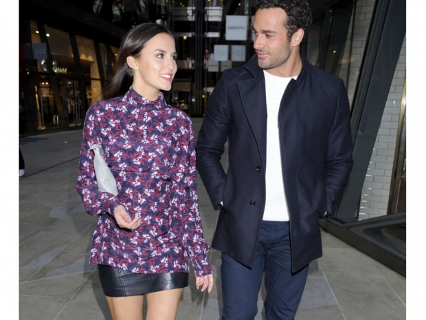 Lucy Watson and James Dunmore out and about