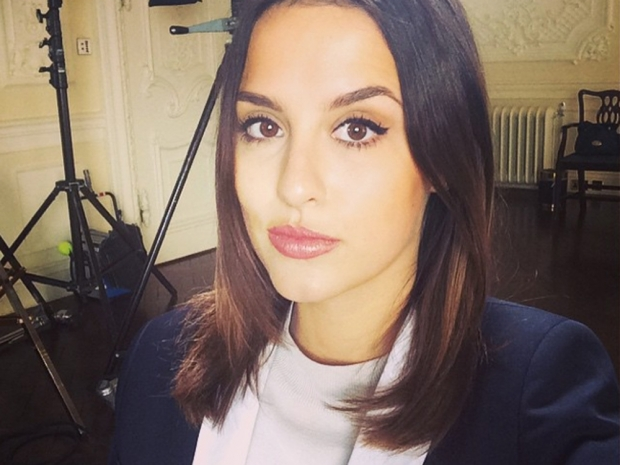 Lucy Watson with shorter hair in an Instagram photo