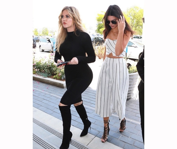 Kendall Jenner and Khloe Kardashian hit The Ivy in LA for lunch