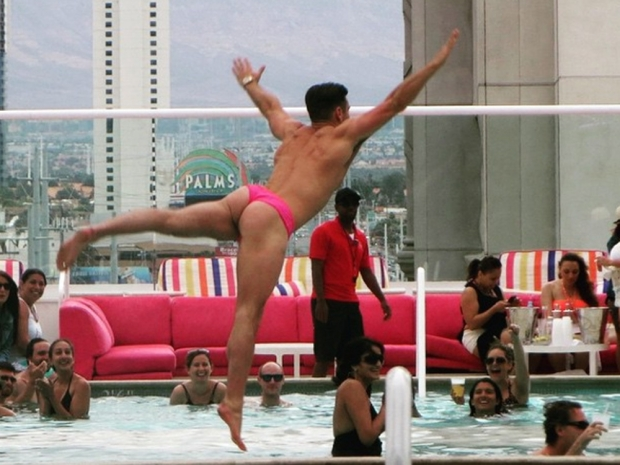 Mark Wright on his stag do in Las Vegas