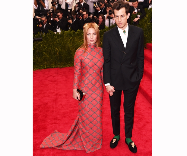 Mark Ronson with his gorgeous French wife Josephine Le Baume met gala