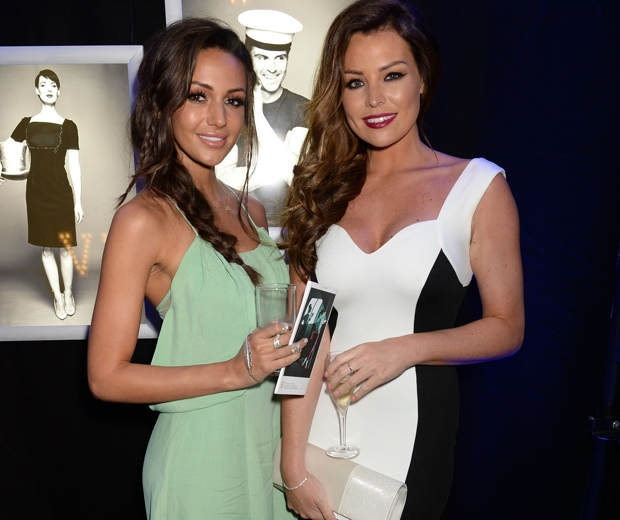 Michelle Keegan and future sister-in-law, Jess Wright inside the TV BAFTAs