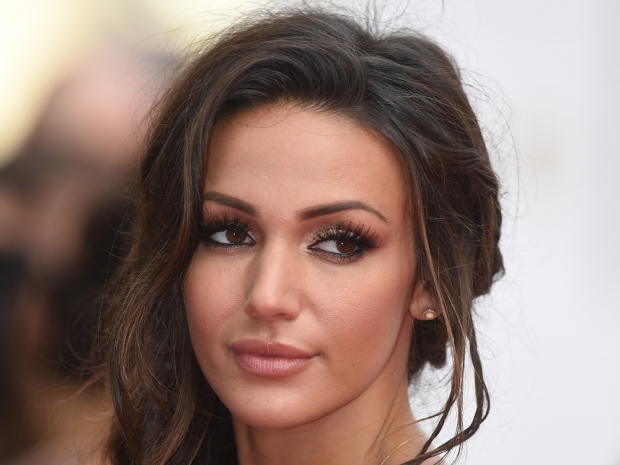 Michelle Keegan showing off her brown eyes