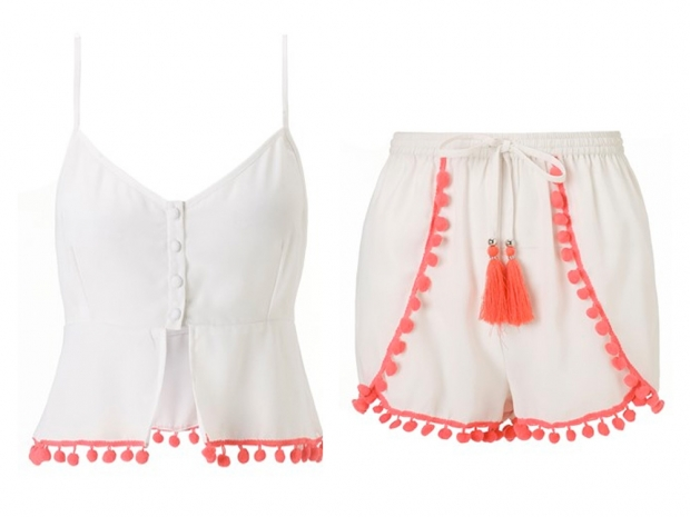 A crop top and shorts from Michelle Keegan's Lipsy range