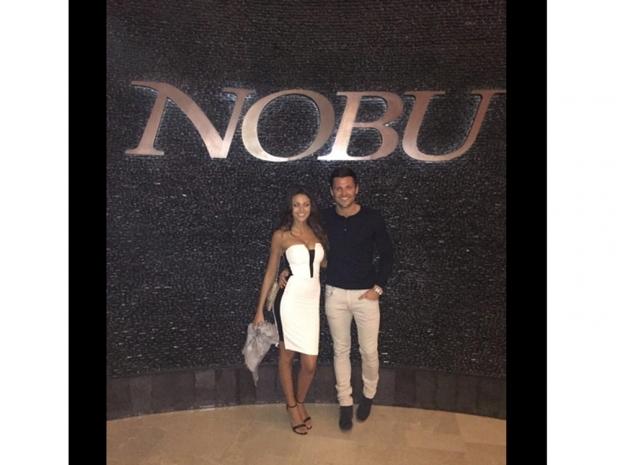 Michelle Keegan and Mark Wright at nobu dubai