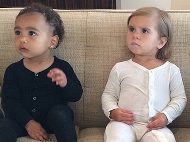Kim Kardashian posts an Instagram photo of North West and Penelope Disick