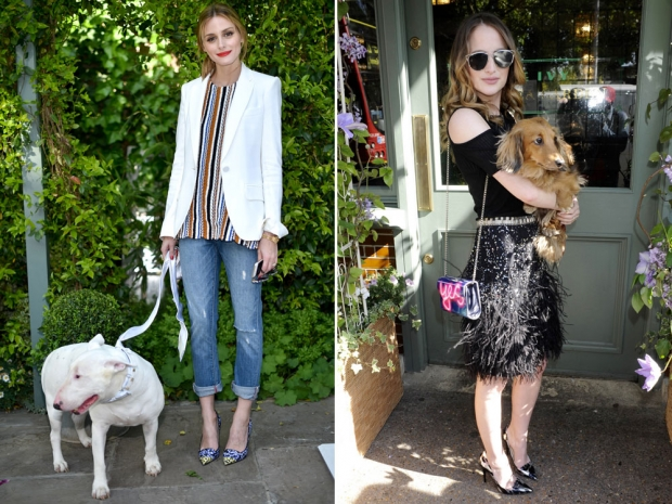 Olivia Palermo and Rosie Fortescue at the Jimmy Choo party.