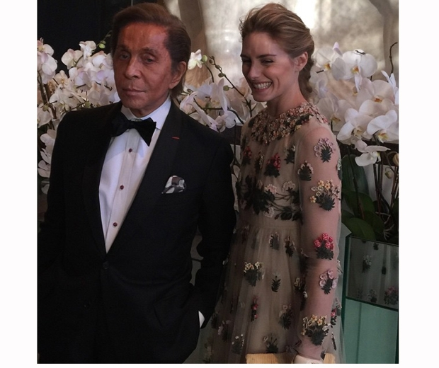 olivia palermo and Mr Valentino himself at the New York Ballet