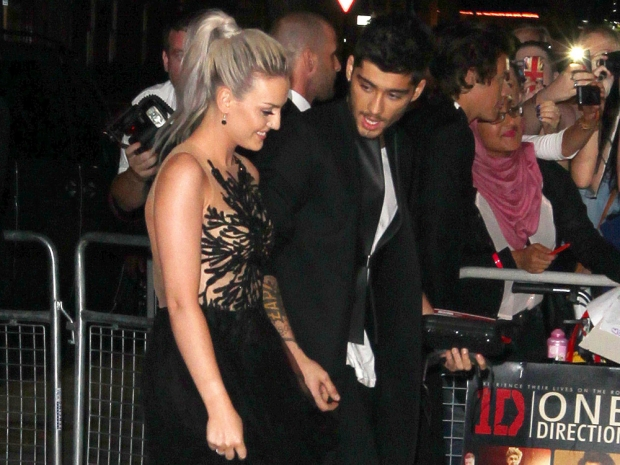 Perrie Edwards and Zayn Malik at the premiere of One Direction's film in 2013