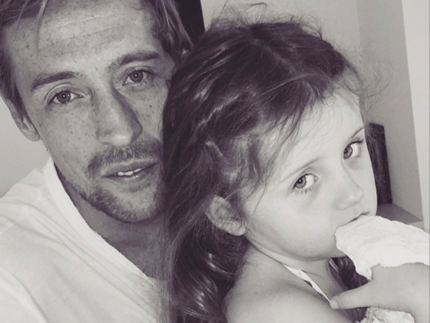 Peter Crouch and daughter Sophia in Instagram photo