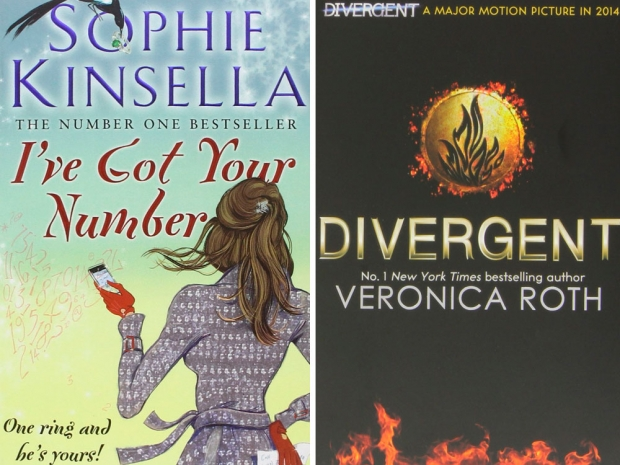 I've Got Your Number by Sophie Kinsella and Divergent by Veronica Roth