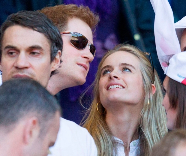 Prince Harry and Cressida Bonas at Twickenham watching the rugby back in 2014