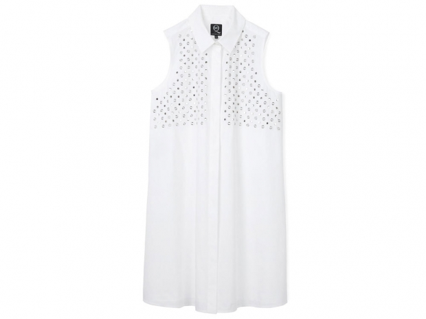 McQ Alexander McQueen Studded Button Down Dress