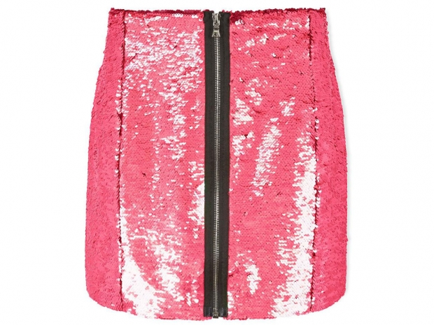 Markus Lupfer Ashley Holographic Sequin Skirt