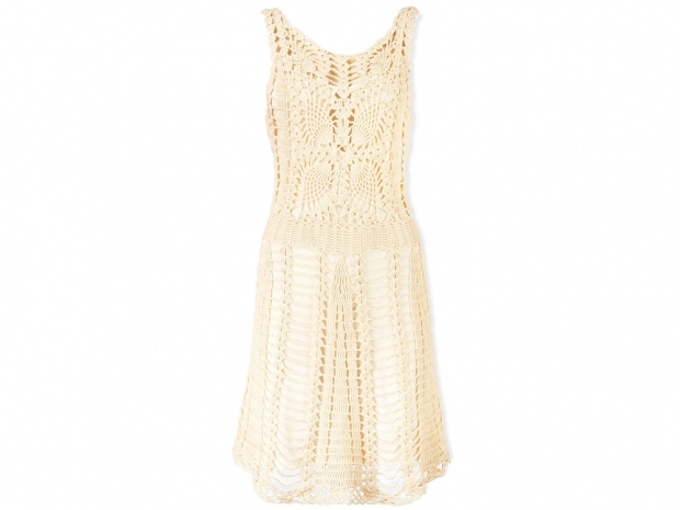 Free People Macramé Mini Crochet Dress