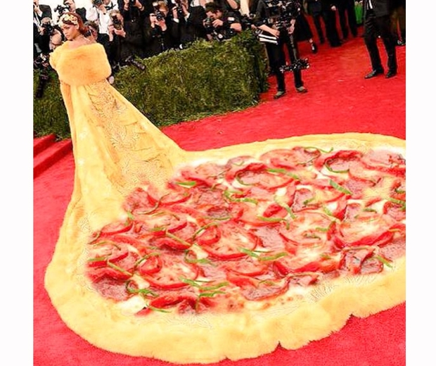 rihanna met gala 2015 dress meme