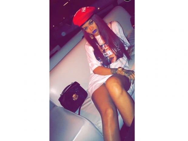 Rihanna shared her fun on Snapchat