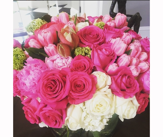 rob kardashian mothers day flowers to kris jenner