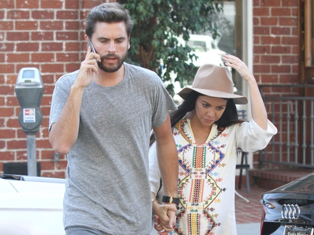 Scott Disick and Kourtney Kardashian head out in LA