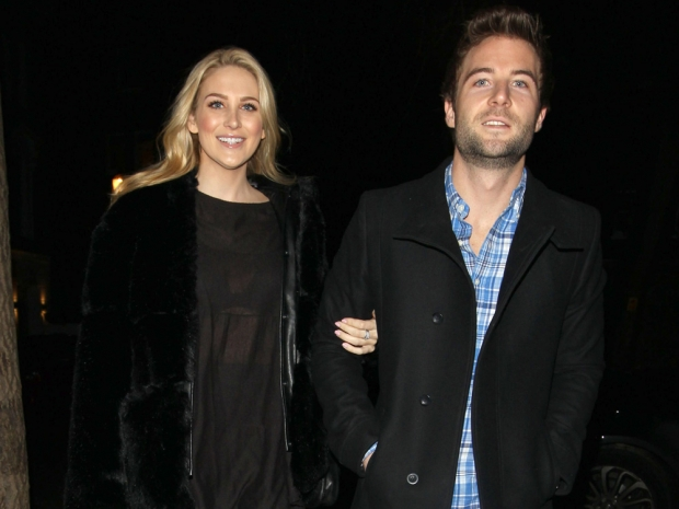 Stephanie Pratt and Josh Shepherd out in London in February 2015