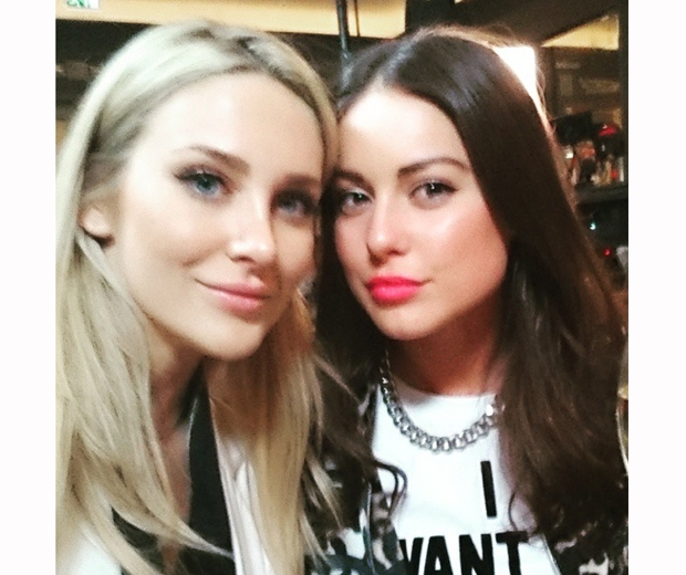 Stephanie Pratt with MIC co-star Louise Thompson