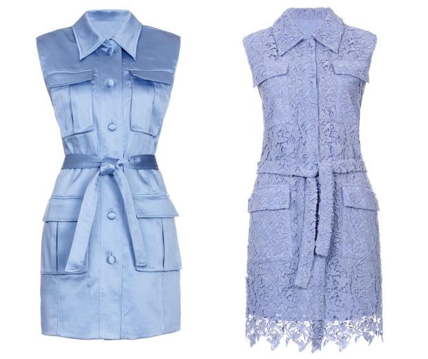 Waistcoat, £185 and Dress, £190