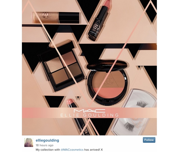 Ellie Goulding's new collection with MAC