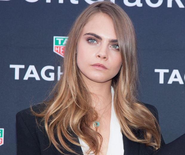Cara Delevingne shows off her take on the bronde hair colour trend