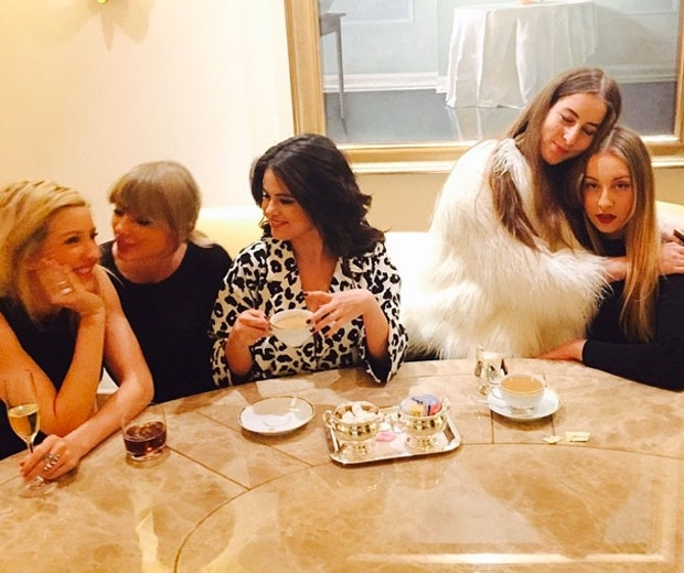 Ellie Goulding, Taylor Swift and HAIM having a girls night in