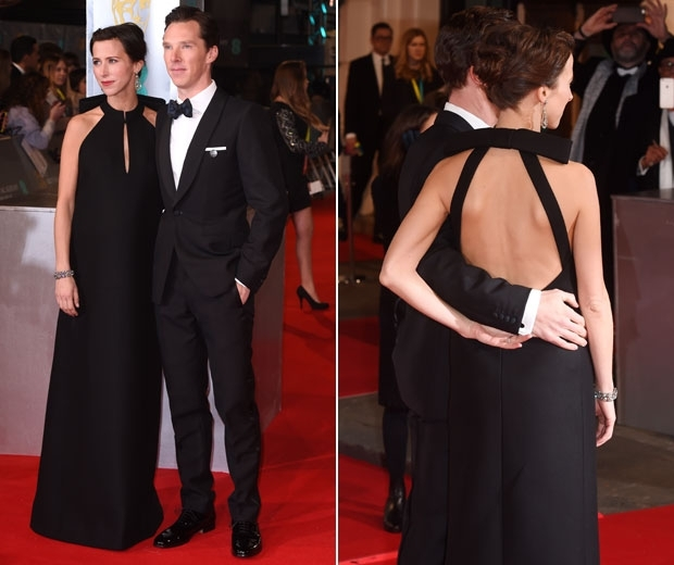 Sophie Hunter and Benedict Cumberbatch on red carpet
