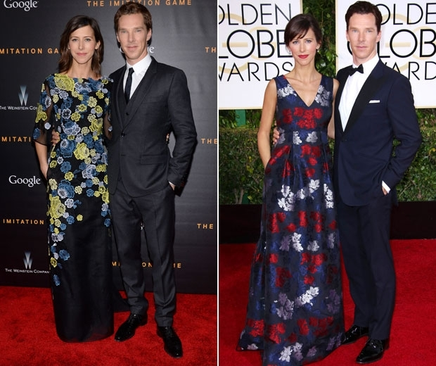 benedict cumberbatch and sophie hunter on the red carpet
