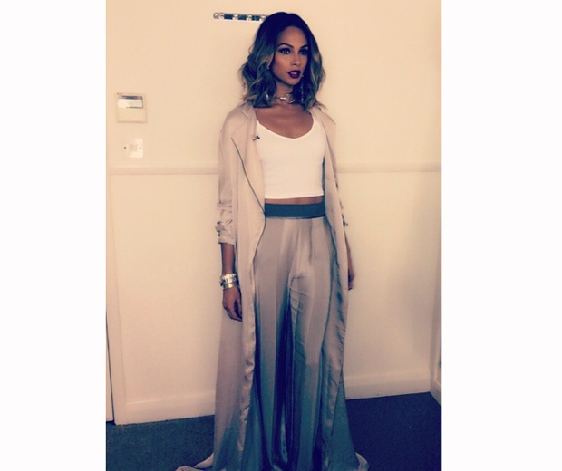 alesha dixon with wavy bob