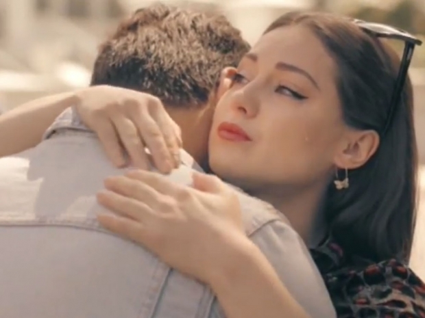 Louise Thompson hugs Alik Alfus on Made In Chelsea