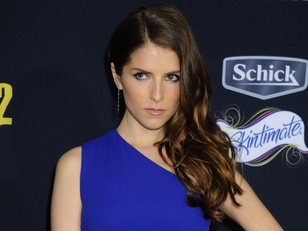 Anna Kendrick with long brown hair