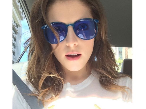 Anna Kendrick with short hair in Instagram photo