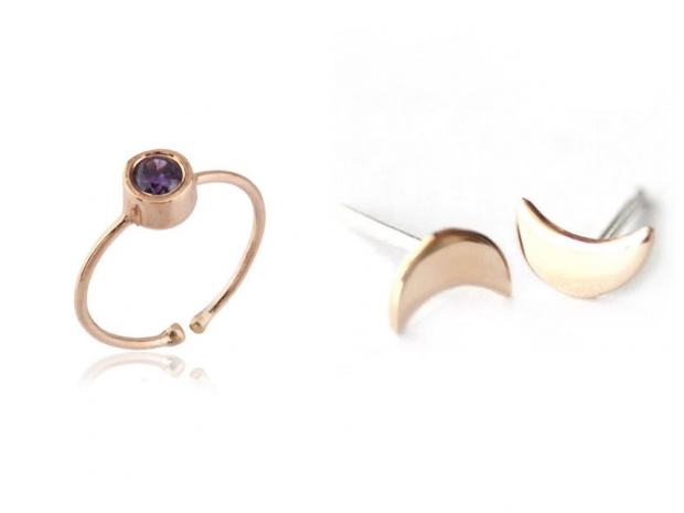 Merve Baal Ring, £45 & Upper Metal Class Earrings, £33.50